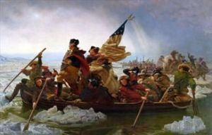 Washington in boat
